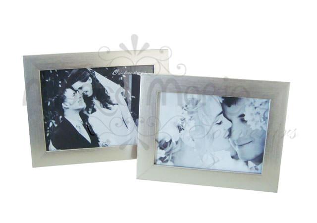 Silverish Minimalist Framemarco Mario Souvenir Wedding Souvenirs Souvenir Pernikahan